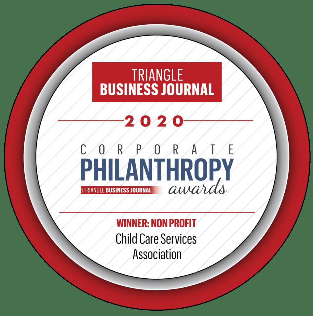 2020 Winner for Philanthropy button
