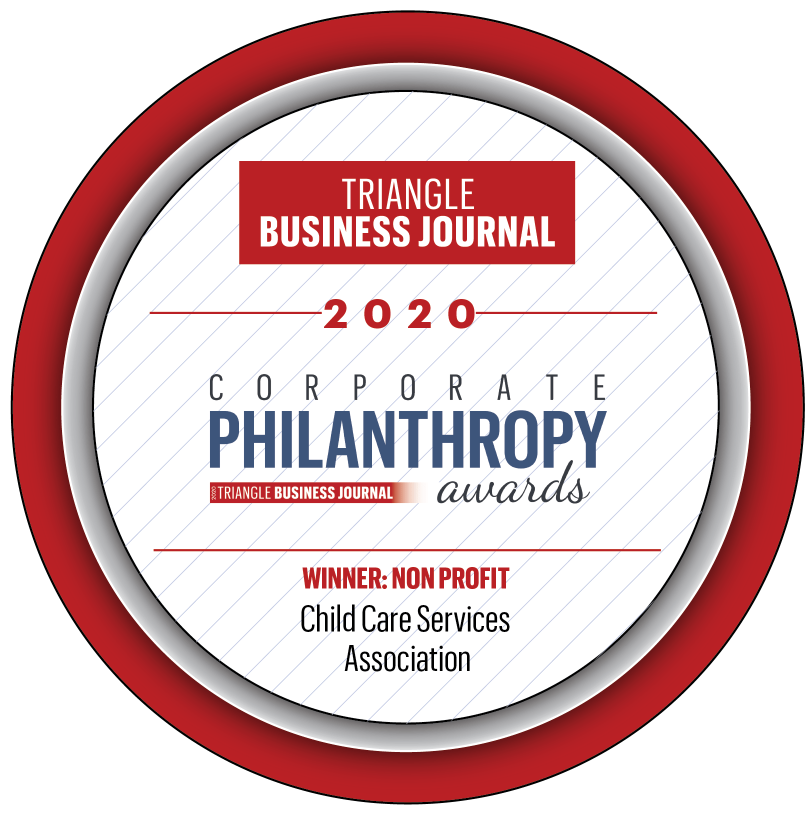 2020 Winner for Philanthropy button