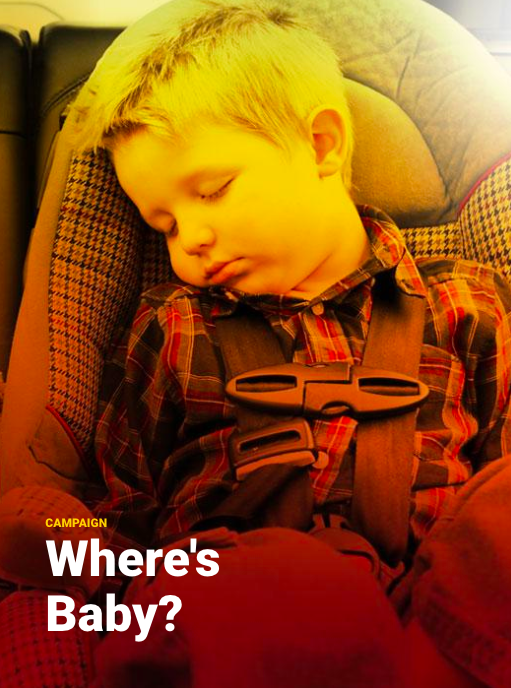 A toddler sleeping in a car seat