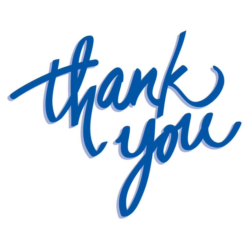 """""""thank you"""" graphic"""